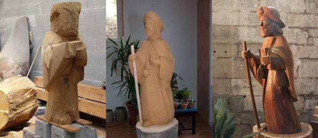 Etapes de création de la statue