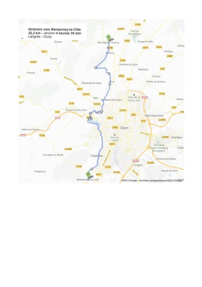 Guide Saint Jacques Compostelle Bourgogne Carte Etape