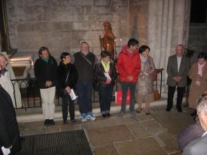 25 mars 2014, remise des crédentiales aux pèlerins en partance vers Coimpostelle